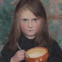 Jeune Fille mangeant sa soupe