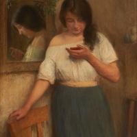 Marie Martinet en manches de chemise