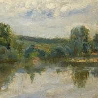 Paysage, bord d'eau