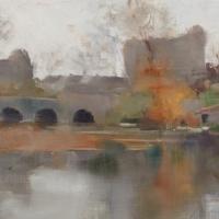 Gray Day at the Bridge in Grez