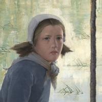 Jane, jeune fille au bord d'une rivière