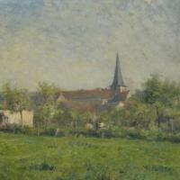 Paysage avec église