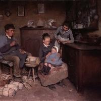 Intérieur de cuisine (Elle dort déjà), 1886