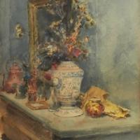 Nature morte au vase sur une cheminée, 1886