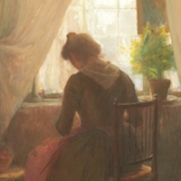 Pauline à sa fenêtre