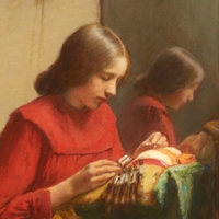 Girl Making Lace