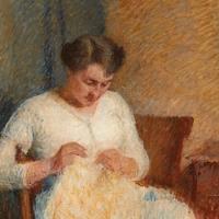 Marie-Louise en robe blanche