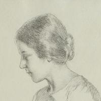 Lucie Guilhan, Étude pour la figure au bord de son lit