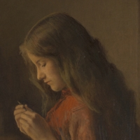 Jeune Fille crochetant