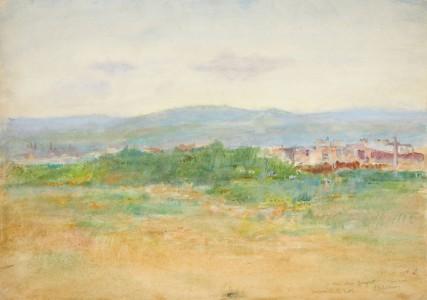 Léon Delachaux, Paysage, Souvenir de la Butte