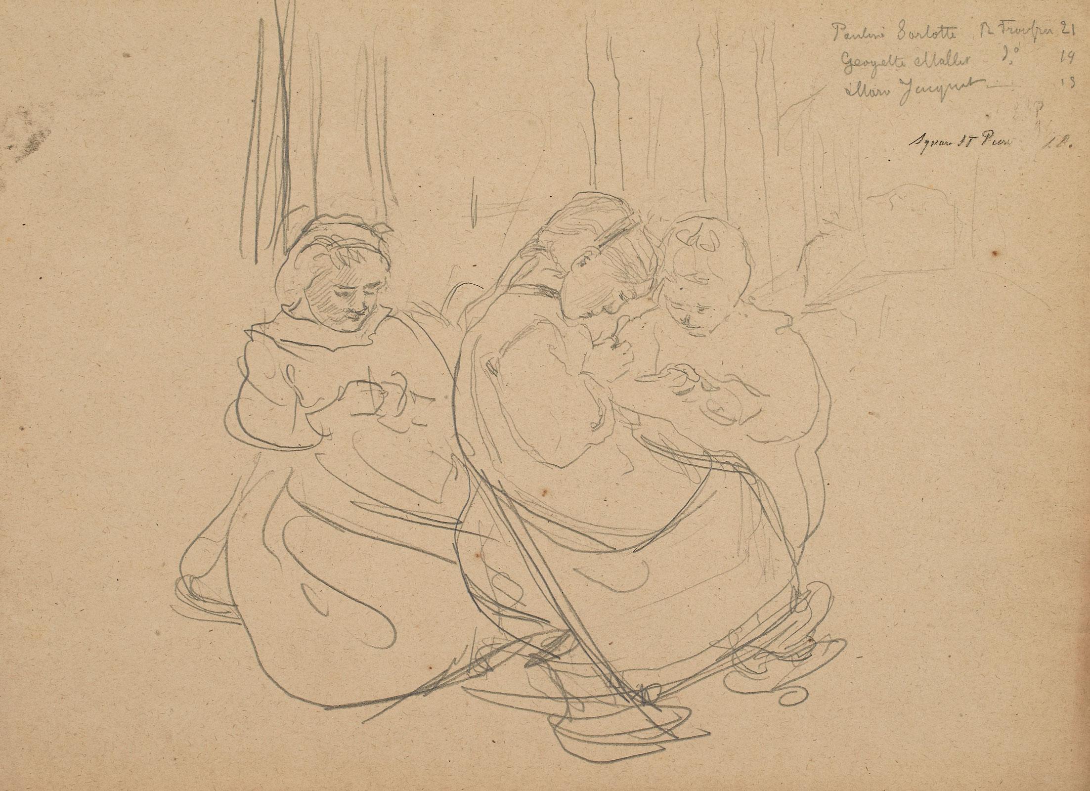 """Léon Delachaux (1850-1919), """"Square Saint-Pierre, Montmartre"""""""