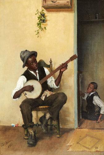 Léon Delachaux - Banjo Player