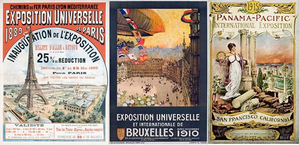 Quelques expositions universelles auxquelles Léon Delachaux a participé