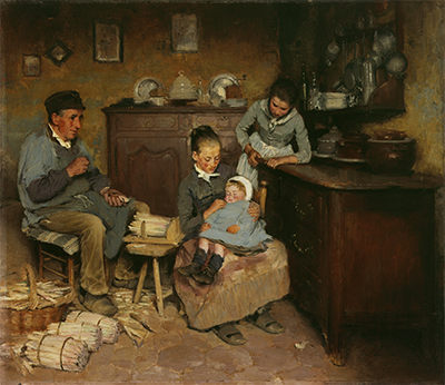 Léon Delachaux, «Elle dort déjà», 1886, huile sur toile, Genève, musée d'Art et d'Histoire. Photo : Bettina Jacot Descombes.